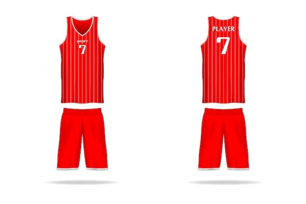 Koszyk specyfikacji szablon jersey. Premium Wektorów