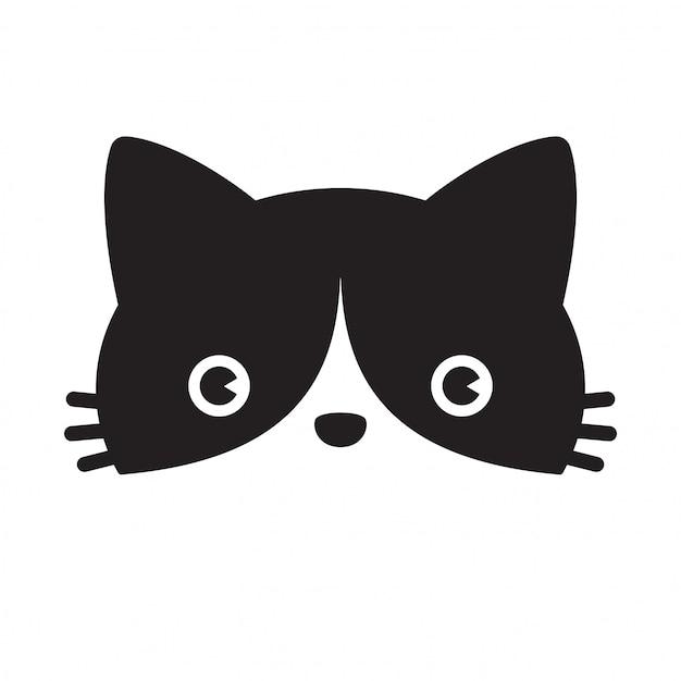 Kot wektor kotek perkal kreskówka Premium Wektorów