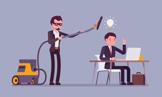 Kradzież Pomysłów Biznesowych Premium Wektorów