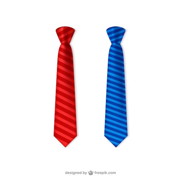 Krawaty opakowanie Darmowych Wektorów