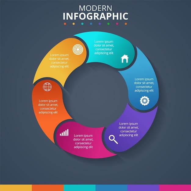 Kreatywna Koncepcja Infografiki. Ilustracji Wektorowych Darmowych Wektorów
