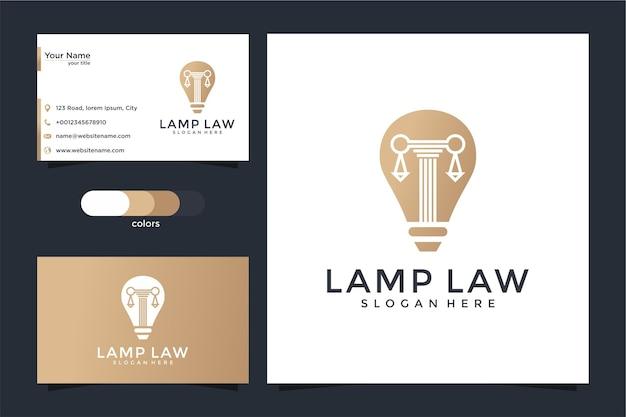 Kreatywna Lampa żarówka I Logo Oraz Projekt Wizytówki Premium Wektorów