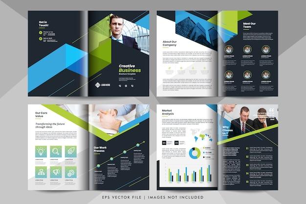 Kreatywna Prezentacja Biznesowa, Szablon Profilu Firmy. Szablon Broszury Korporacyjnej. Premium Wektorów