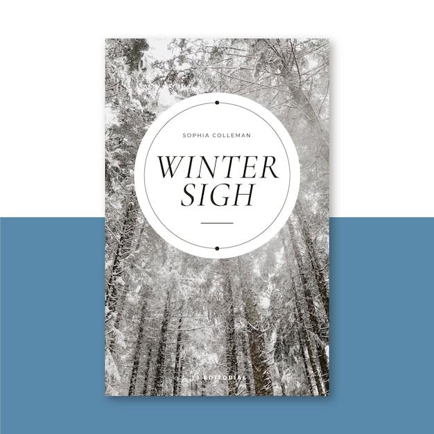 Kreatywna Zimowa Okładka Książki Darmowych Wektorów