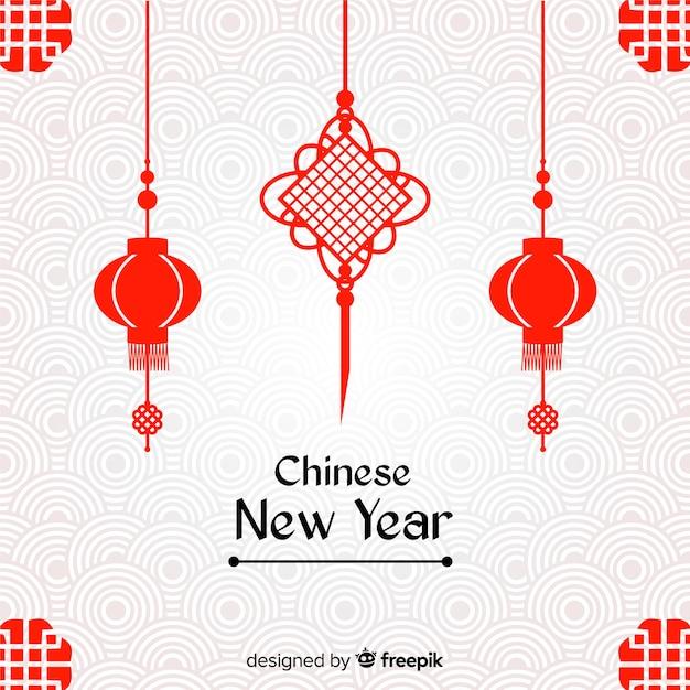 Kreatywne chińskie tło nowego roku Darmowych Wektorów