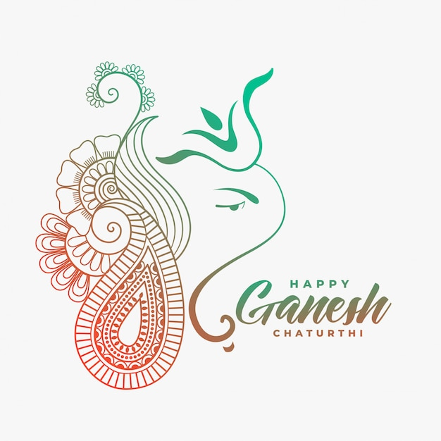 Kreatywne ganesha ji dla szczęśliwego ganesh chaturthi Darmowych Wektorów