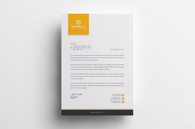 Kreatywne papier firmowy szablon wektor Premium Wektorów