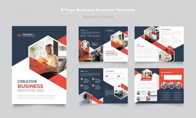 Kreatywne Projektowanie Broszur Biznesowych Premium Wektorów
