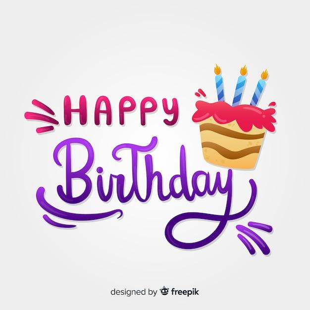 Kreatywne Tło Urodziny Napis Darmowych Wektorów