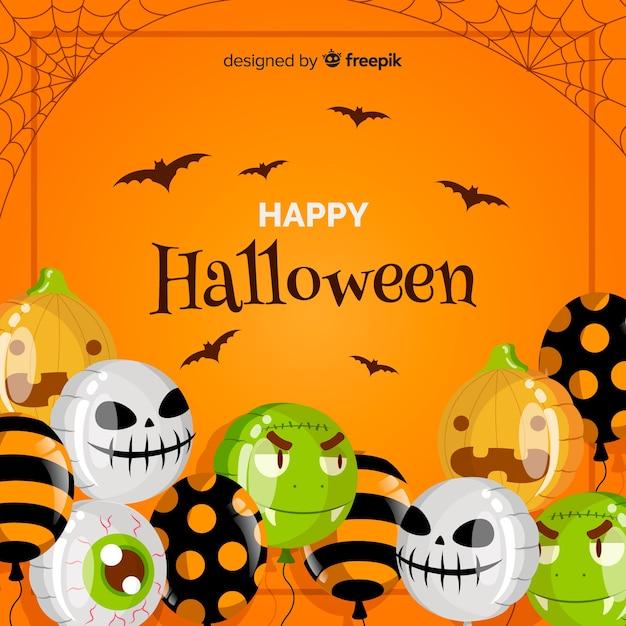 Kreatywnie Halloween Tło Z Balonami Darmowych Wektorów