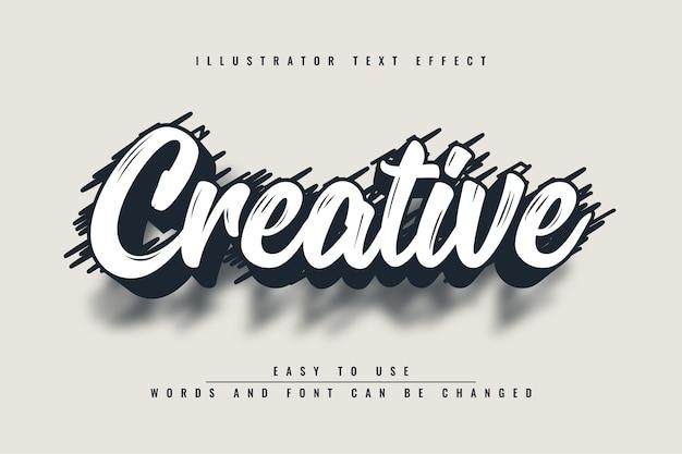 Kreatywny - Edytowalny Efekt Tekstowy Ilustratora Premium Wektorów