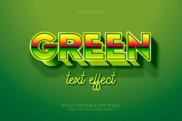 Kreatywny Efekt Zielonego Tekstu Darmowych Wektorów