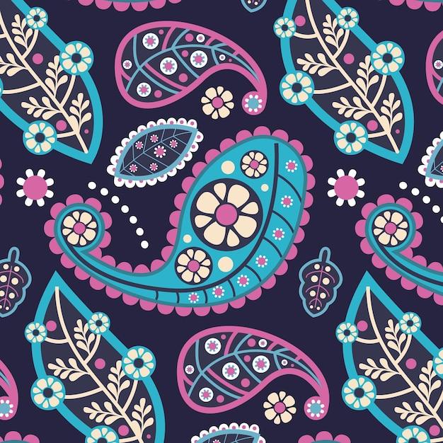 Kreatywny Kolorowy Wzór Paisley Darmowych Wektorów