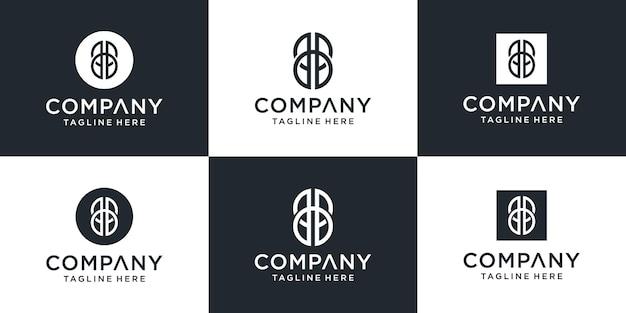 Kreatywny Monogram List Bb Inspiracja Projektowaniem Logo Premium Wektorów