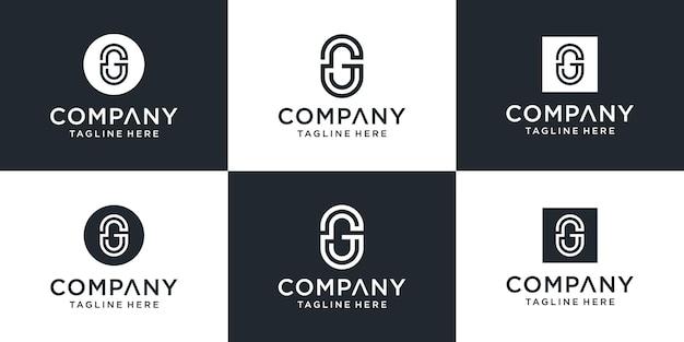 Kreatywny Monogram Litera G Inspiracja Do Projektowania Logo Premium Wektorów