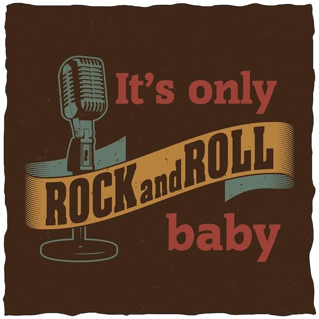 Kreatywny Plakat Muzyczny Ze Słowami To Tylko Rock And Roll Baby Do Projektowania Darmowych Wektorów