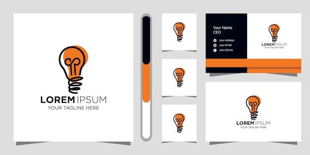 Kreatywny Pomysł Projekt Logo I Szablon Wizytówki. Premium Wektorów