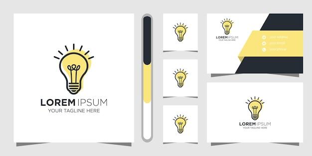 Kreatywny Pomysł Projekt Logo I Wizytówki. Premium Wektorów