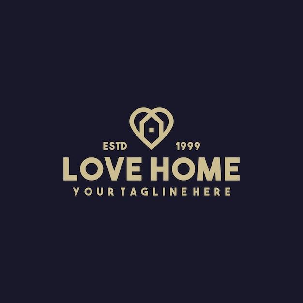 Kreatywny Projekt Logo Premium Do Domu Premium Wektorów