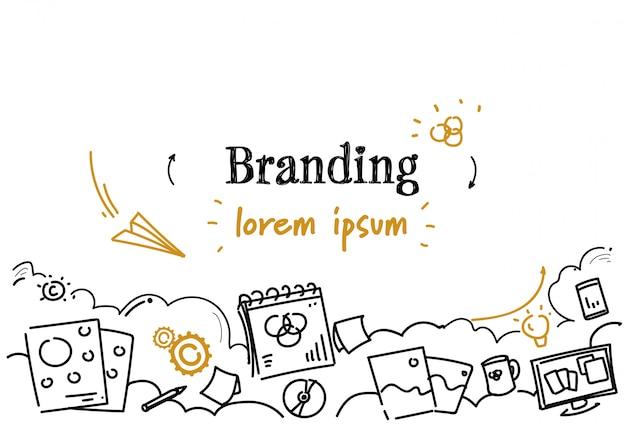 Kreatywny rozwój firmy branding szablon poziomy Premium Wektorów