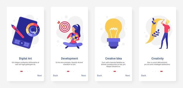 Kreatywny Rozwój Pomysłu Na Biznes Premium Wektorów