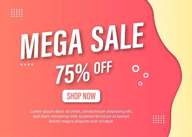 Kreatywny Szablon Transparentu Promocji Sprzedaży Mega Premium Wektorów
