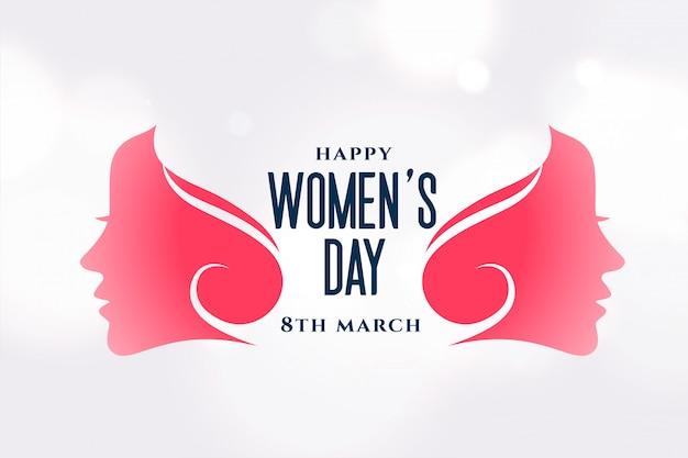 Kreatywny Szczęśliwy Dzień Kobiet Atrakcyjny Układ Darmowych Wektorów