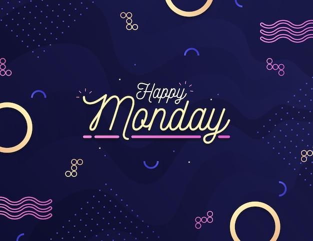 Kreatywny Szczęśliwy Poniedziałek Tło Darmowych Wektorów