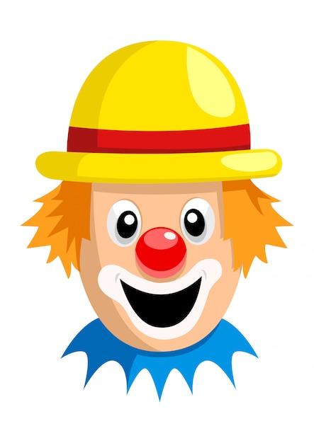Kreskówka clown face Premium Wektorów
