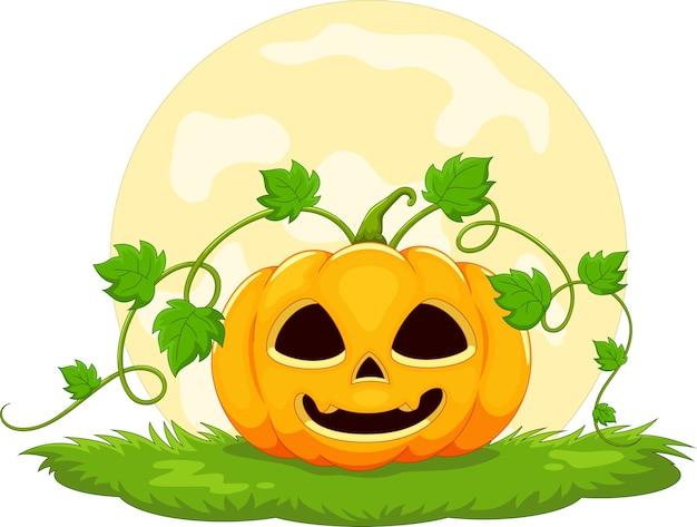 Kreskówka Dyni Halloween Premium Wektorów