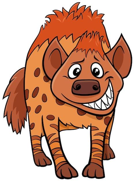 Kreskówka Hiena Dzikich Zwierząt Premium Wektorów