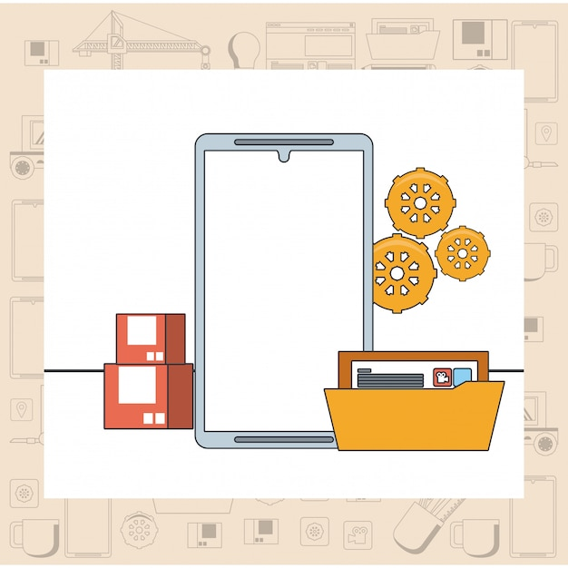 Kreskówka koncepcja wsparcia konserwacji urządzenia technologii Darmowych Wektorów