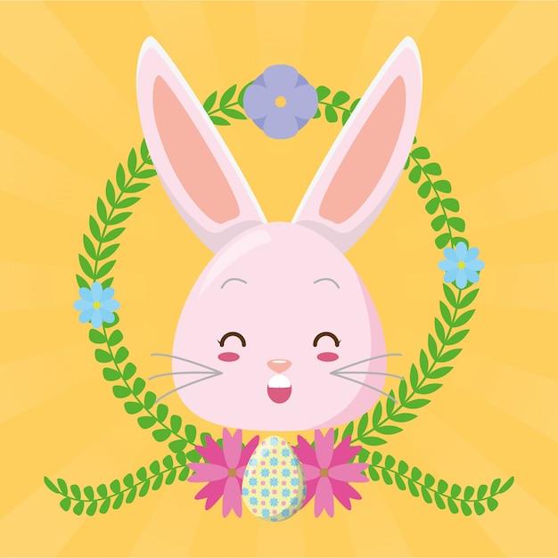 Kreskówka królik ładny twarz Darmowych Wektorów