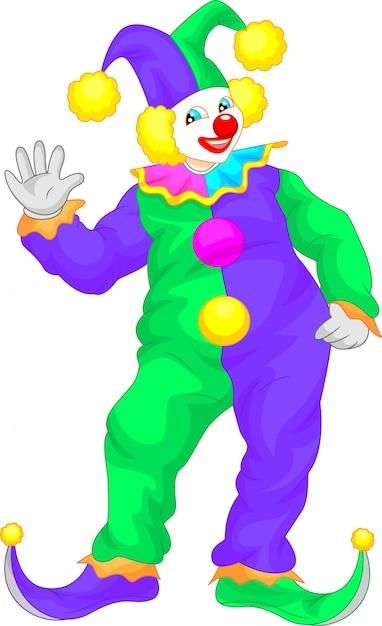 Kreskówka macha klaun Premium Wektorów