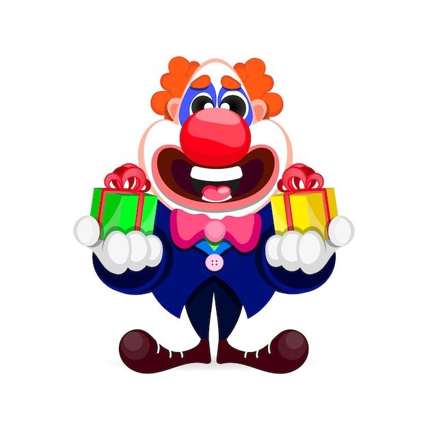 Kreskówka piękny clown Premium Wektorów