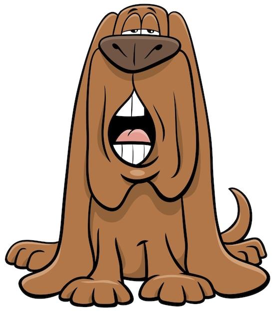 Kreskówka Pies Zwierzęcy Charakter Szczekanie Lub Wycie Premium Wektorów