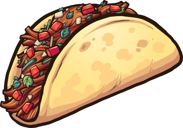 Kreskówka Taco Premium Wektorów