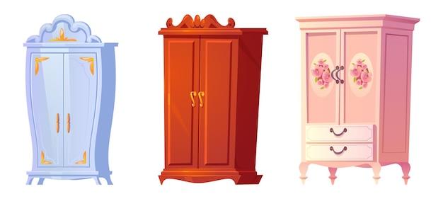 Kreskówka zestaw szafek barokowych Darmowych Wektorów
