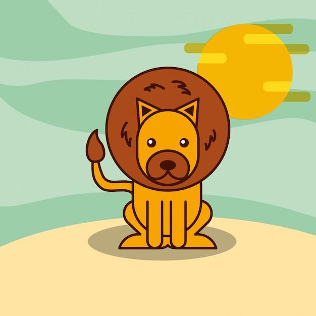Kreskówka zwierząt z safari Darmowych Wektorów