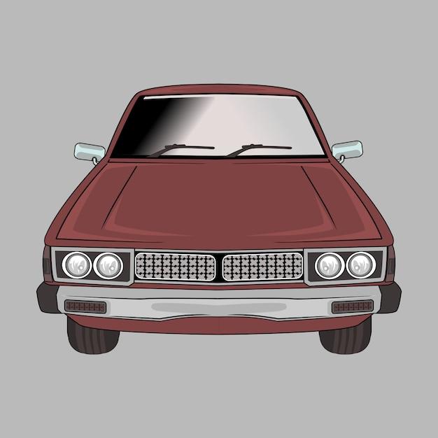 Kreskówki Ilustracyjny Samochodowy Retro, Rocznik, Klasyk Premium Wektorów