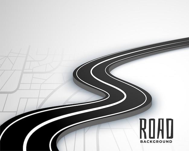 Kręta ścieżka Drogowa 3d W Stylu Mapy Darmowych Wektorów