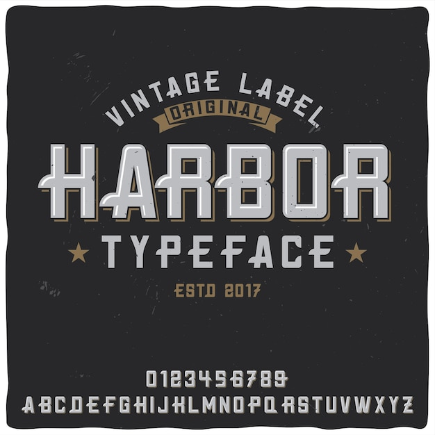 """Krój Pisma Vintage O Nazwie """"port"""". Darmowych Wektorów"""