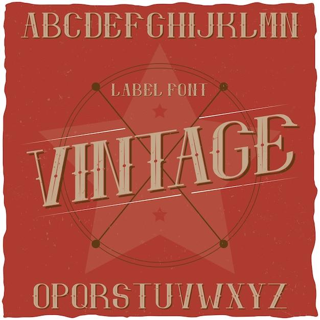 Krój Pisma Vintage O Nazwie Premium Beer. Darmowych Wektorów