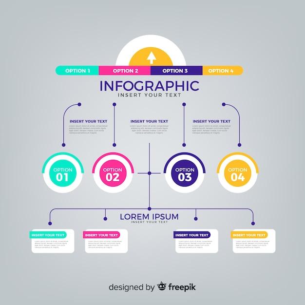 Kroki infographic Darmowych Wektorów