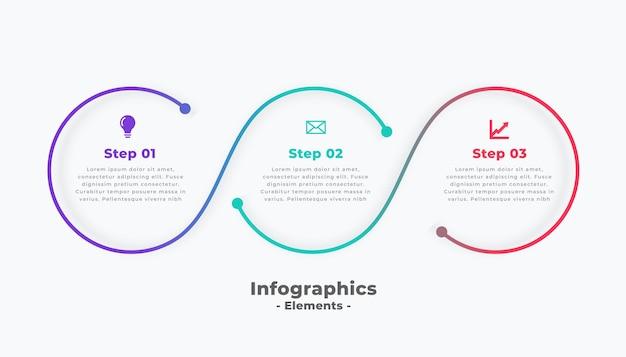 Kroki Nowoczesny Okrągły Szablon łączący Infografikę Darmowych Wektorów