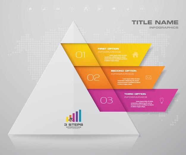 kroki piramidy z wolnego miejsca na tekst na każdym poziomie. Premium Wektorów