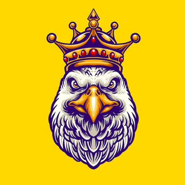 Król Eagle Character Premium Wektorów