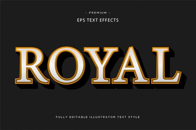 Królewski Efekt Tekstowy 3d Premium Wektorów