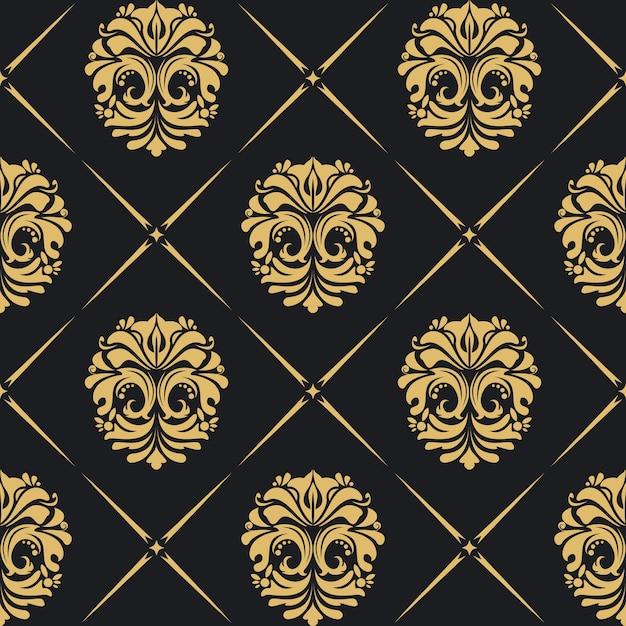 Królewskie Tło Barokowe Ze Złotymi Elementami Vintage. Darmowych Wektorów