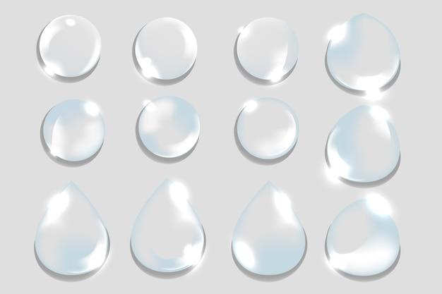 Krople Wody Darmowych Wektorów